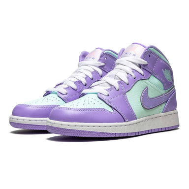 Air Jordan 1 Mid GS 'Purple Aqua' - Kick Game