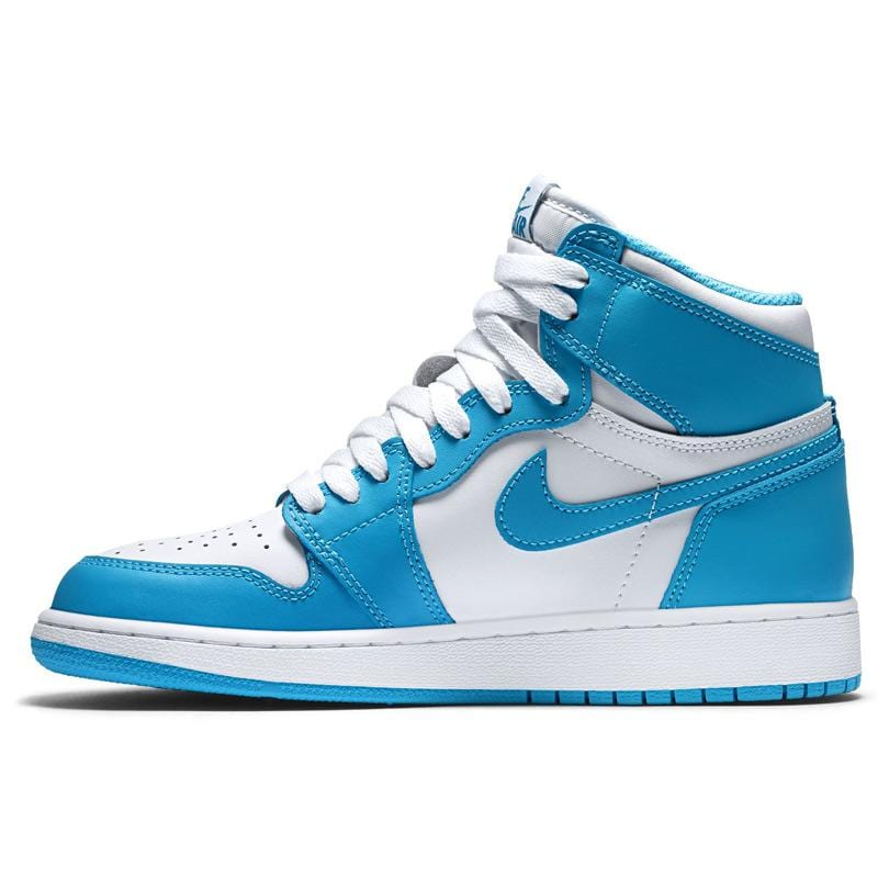 Air Jordan 1 Retro High OG Grade School (White-Powder Blue) - Kick Game