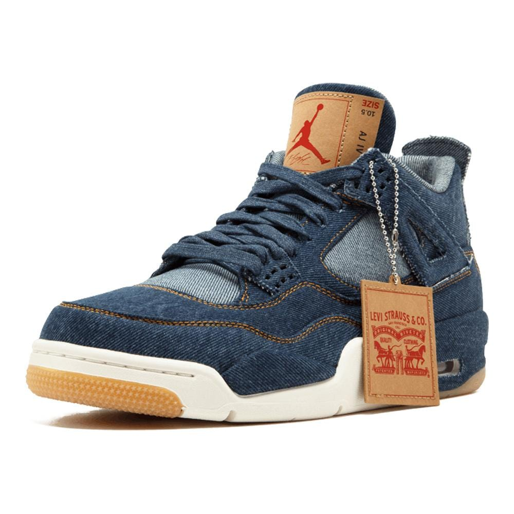 "Levis x Air Jordan 4 Retro ""Navy"" - Kick Game"