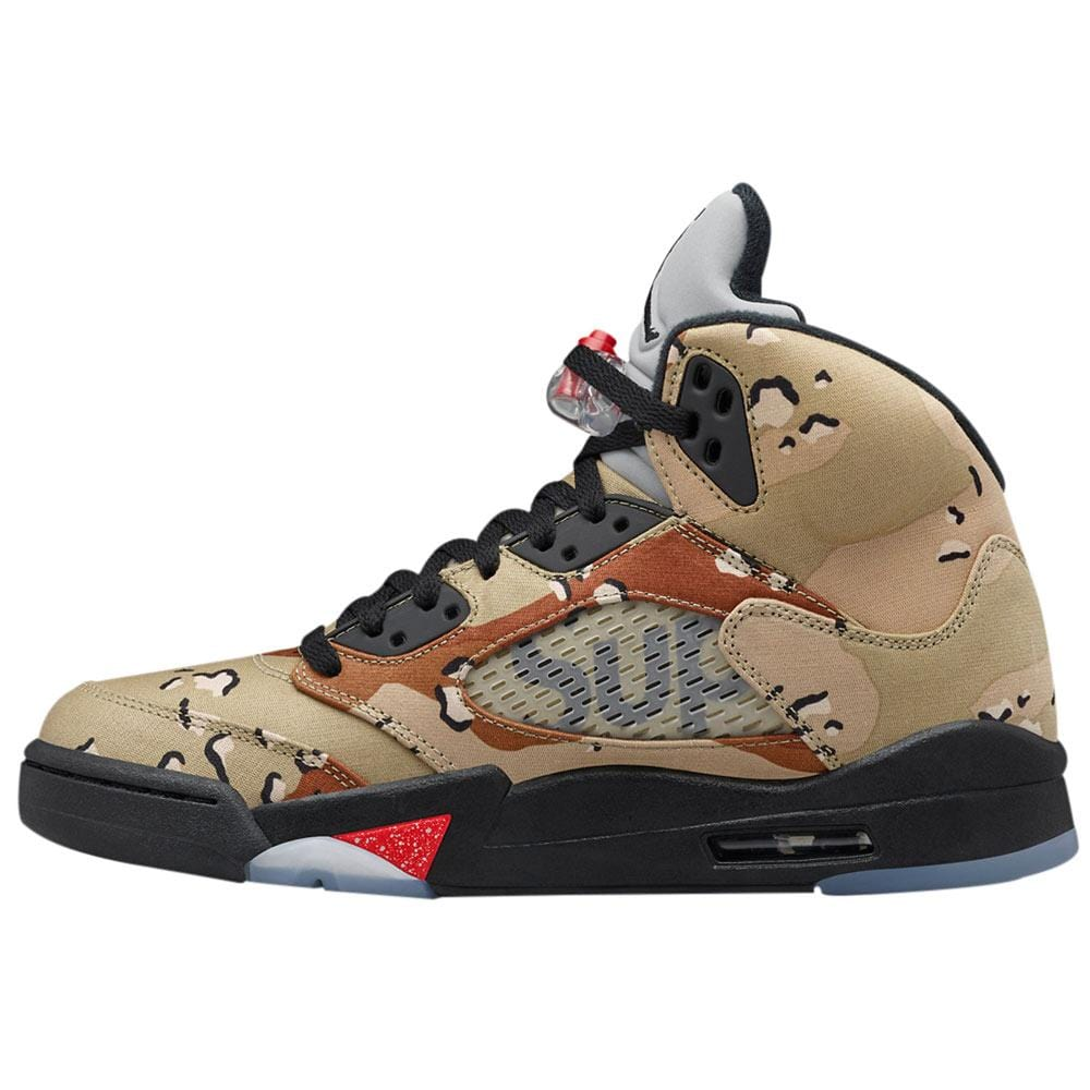 "AIR JORDAN 5 RETRO SUPREME ""SUPREME"" CAMO - Kick Game"