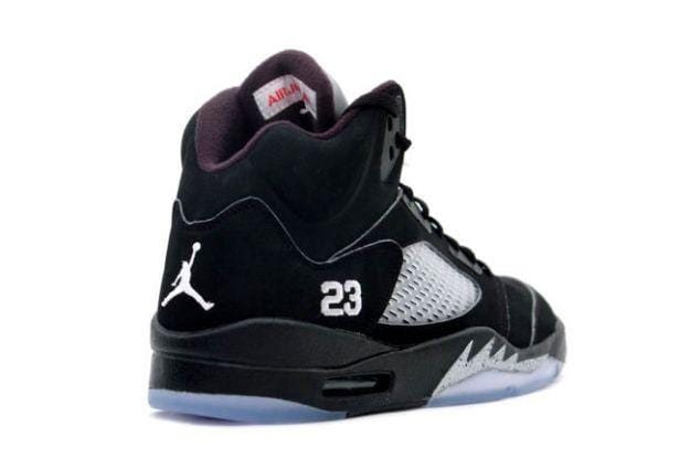 free shipping 64019 eefd8 Air Jordan 5 Retro 'Black Metallic Silver'