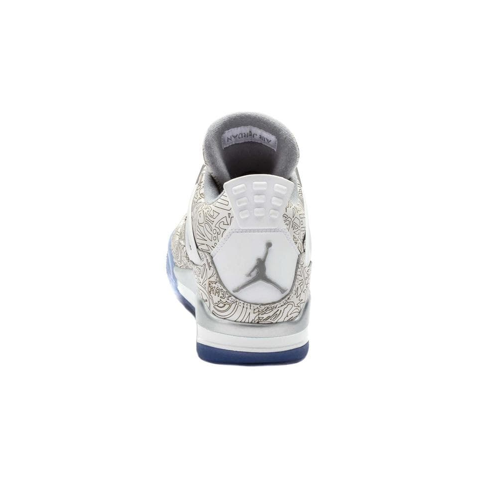 Air Jordan 4 Retro Laser (White-Chrome-Metallic Silver) - Kick Game