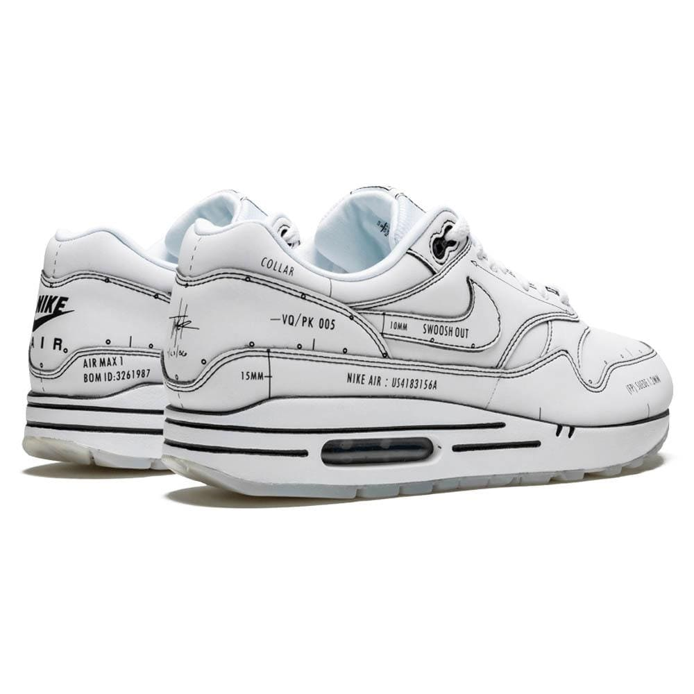 Nike Air Max 1 'Sketch Schematic - White' - Kick Game