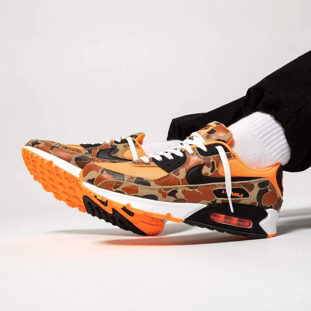Nike Air Max 90 Orange Duck Camo - Kick Game