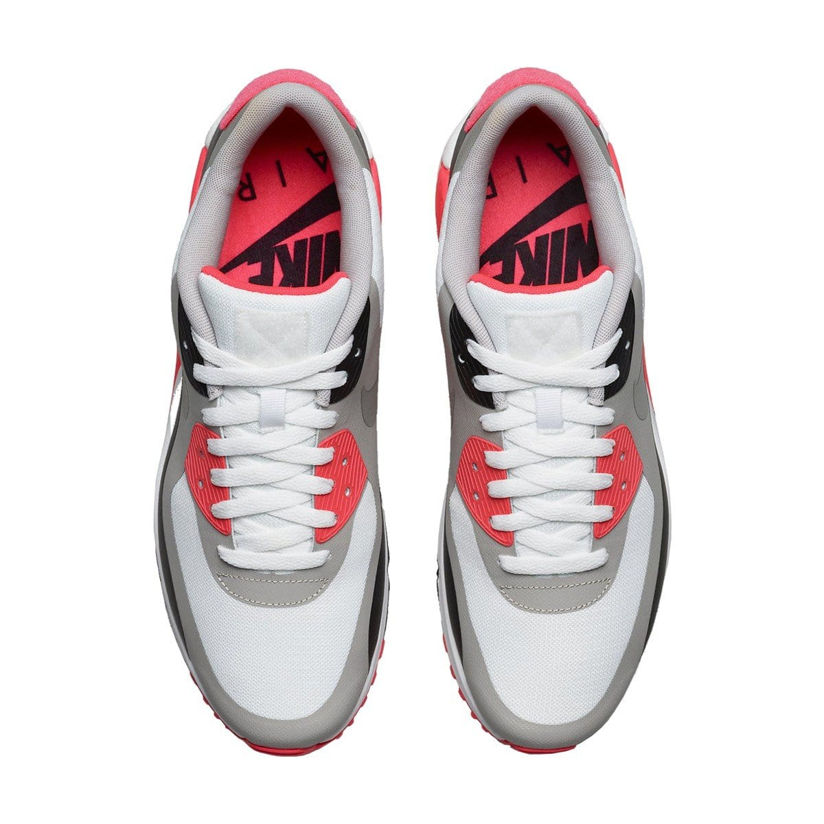 "Nike Air Max 90 V SP ""Patch"" White - Cool Grey - Infrared Red - Kick Game"
