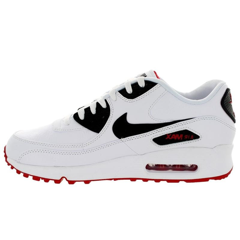 Nike Air Max 90 Ltr White-Black-University Red - Kick Game