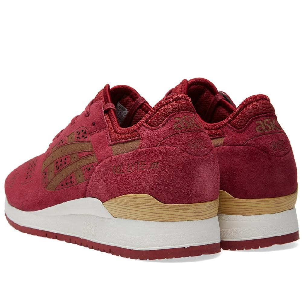 ASICS GEL LYTE III 'LASER ETCHED' Burgundy - Kick Game