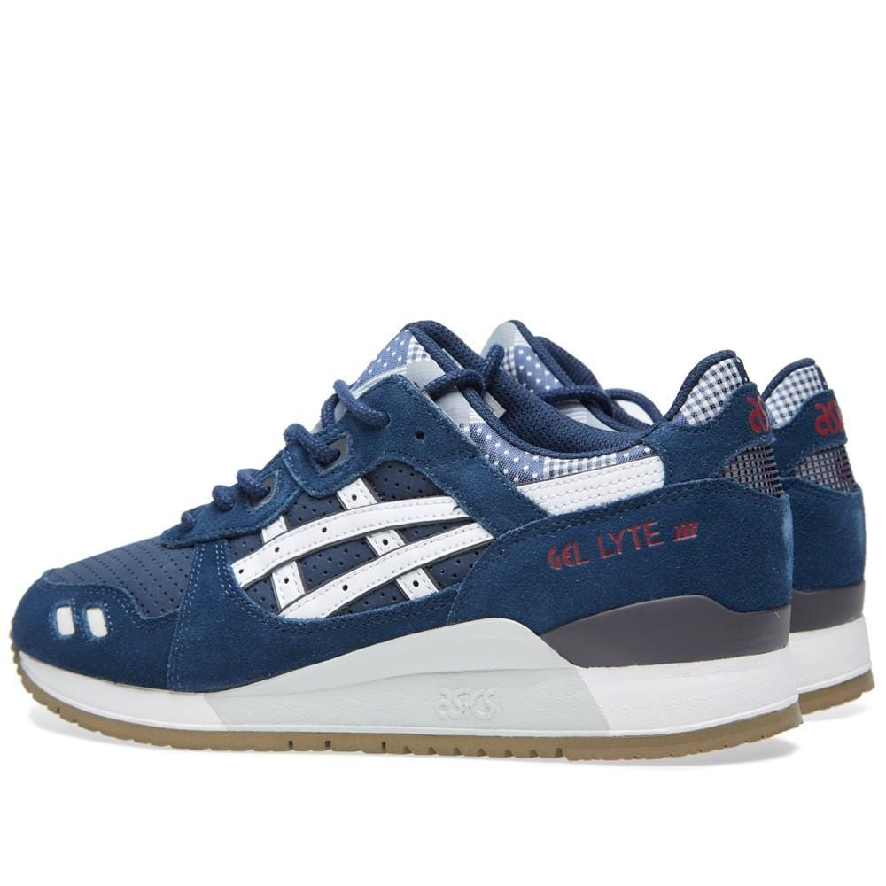 ASICS GEL LYTE III 'PATCHWORK' Navy & White - Kick Game