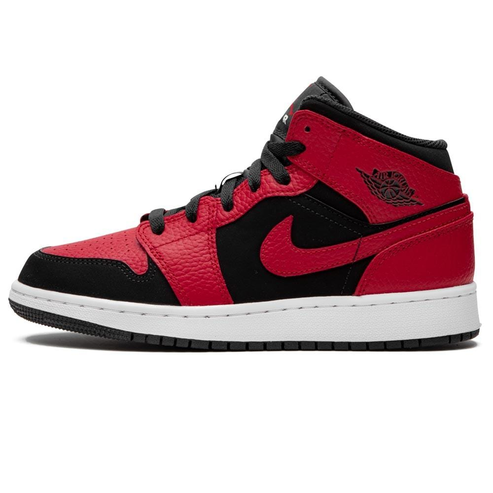 Air Jordan 1 Mid GS 'Black Gym Red' - Kick Game