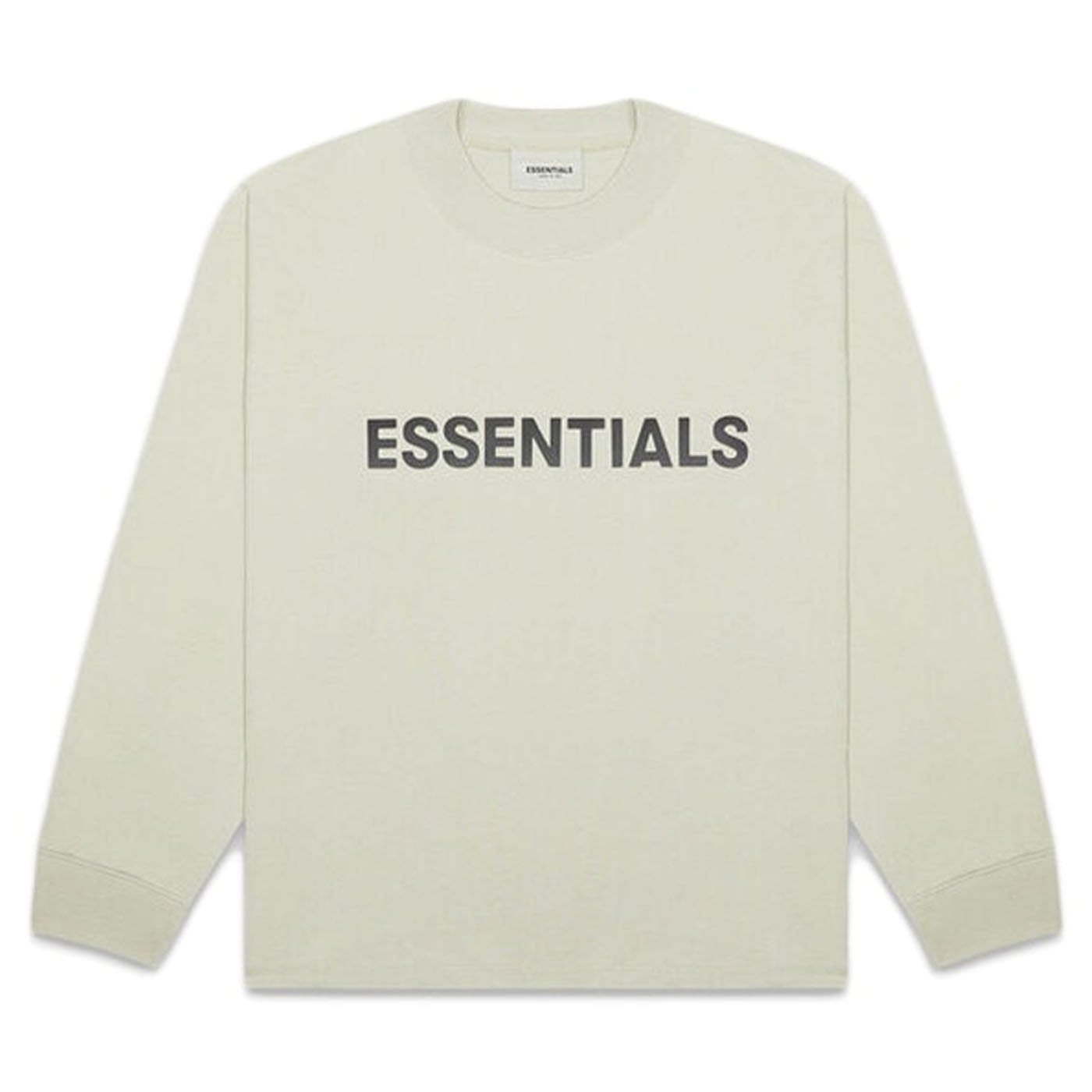 FEAR OF GOD ESSENTIALS 3D Silicon Applique Boxy Long Sleeve T-Shirt Alfalfa Sage - Kick Game