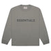 FEAR OF GOD ESSENTIALS 3D Silicon Applique Boxy Long Sleeve T-Shirt Gray Flannel/Charcoal - Kick Game