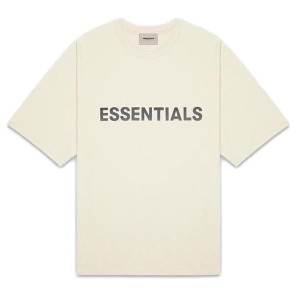 FEAR OF GOD ESSENTIALS 3D Silicon Applique Boxy T-Shirt Buttercream - Kick Game