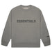 FEAR OF GOD ESSENTIALS 3D Silicon Applique Crewneck Gray Flannel/Charcoal - Kick Game