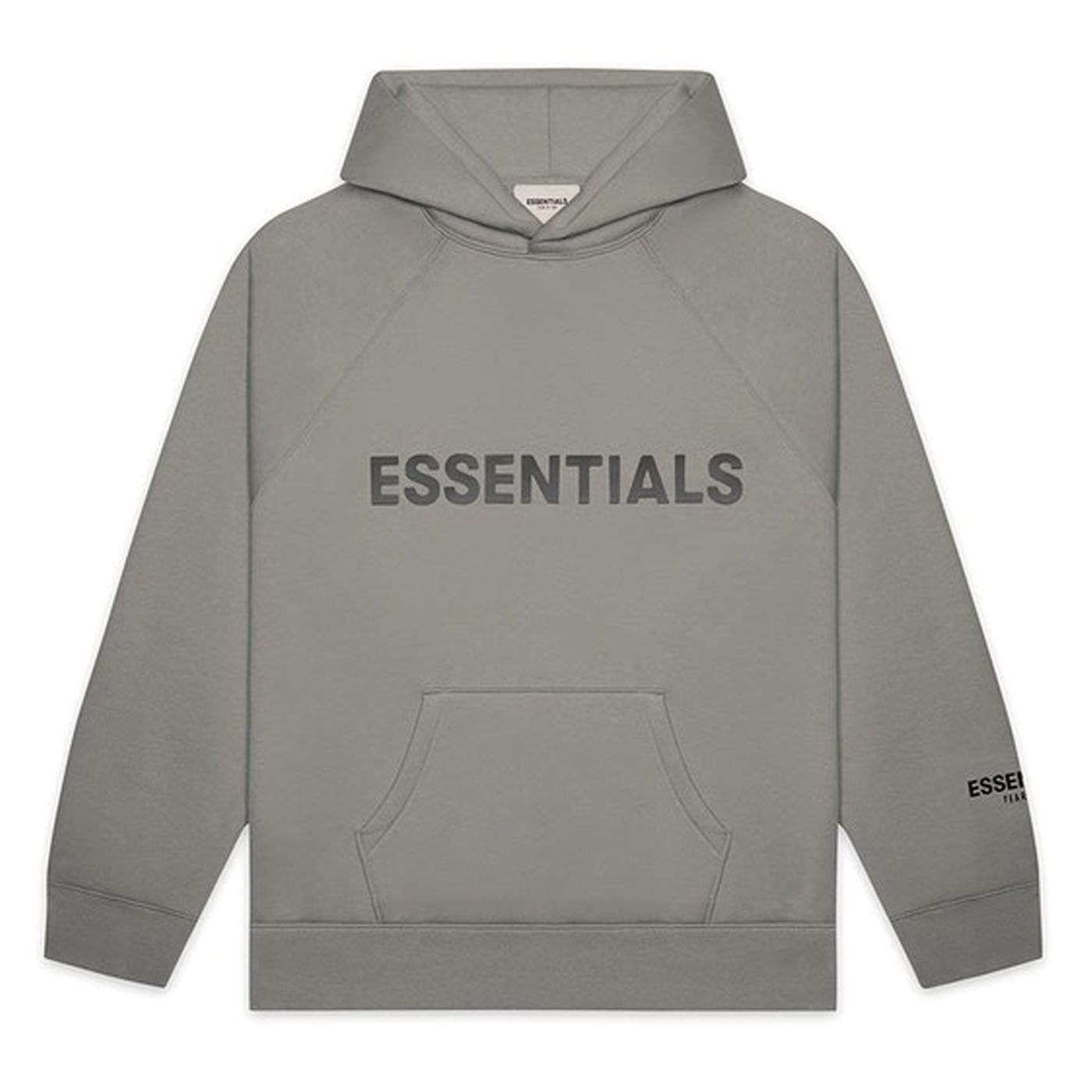 FEAR OF GOD ESSENTIALS Pullover Hoodie Applique Logo Cement - Kick Game