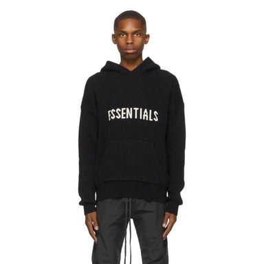FEAR OF GOD ESSENTIALS Knit Hoodie Taupe - Kick Game