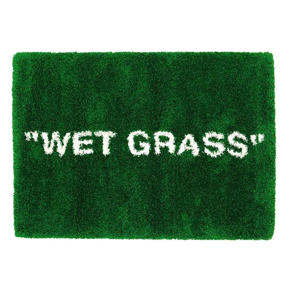 "Virgil Abloh x IKEA MARKERAD ""WET GRASS"" Rug Green - Kick Game"