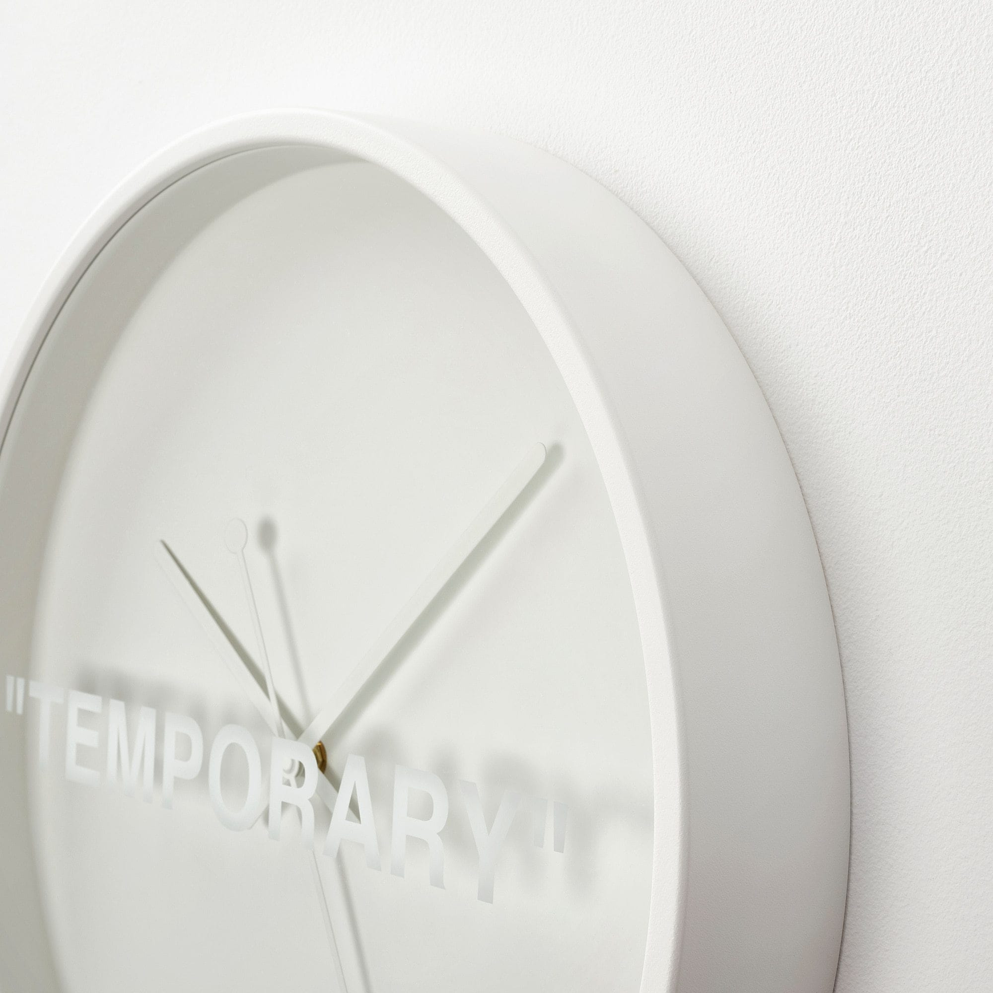 "Virgil Abloh x IKEA MARKERAD ""TEMPORARY"" Wall Clock White - Kick Game"