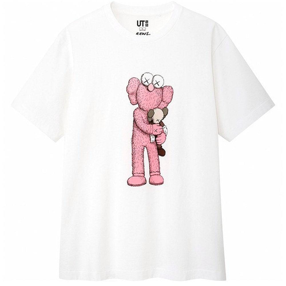KAWS x Uniqlo Pink BFF Tee White - Kick Game