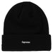 Supreme New Era S Logo Beanie (FW 19) Black - Kick Game