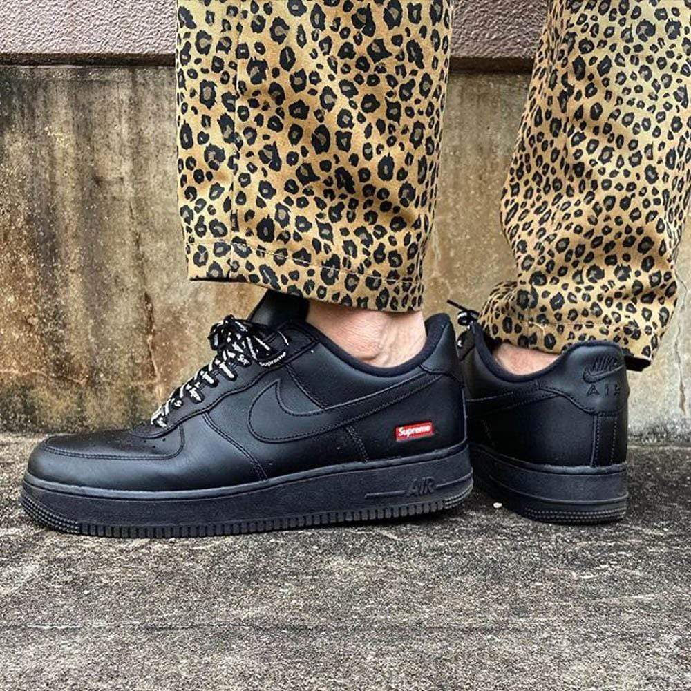 Supreme x Nike Air Force 1 Low 'Box Logo - Black' - Kick Game