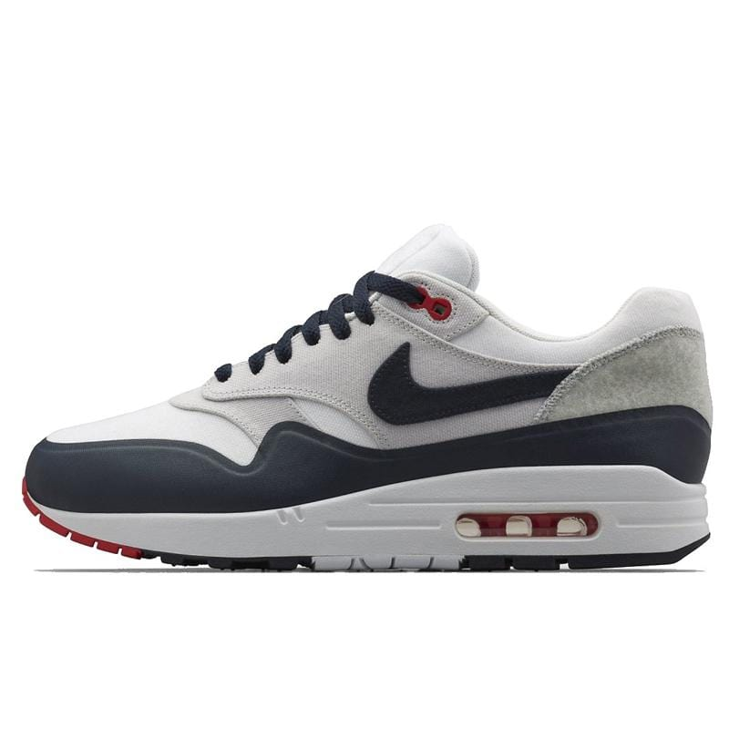 "Nike Air Max 1 V SP ""Patch"" White - Obsidian - University Red - Kick Game"