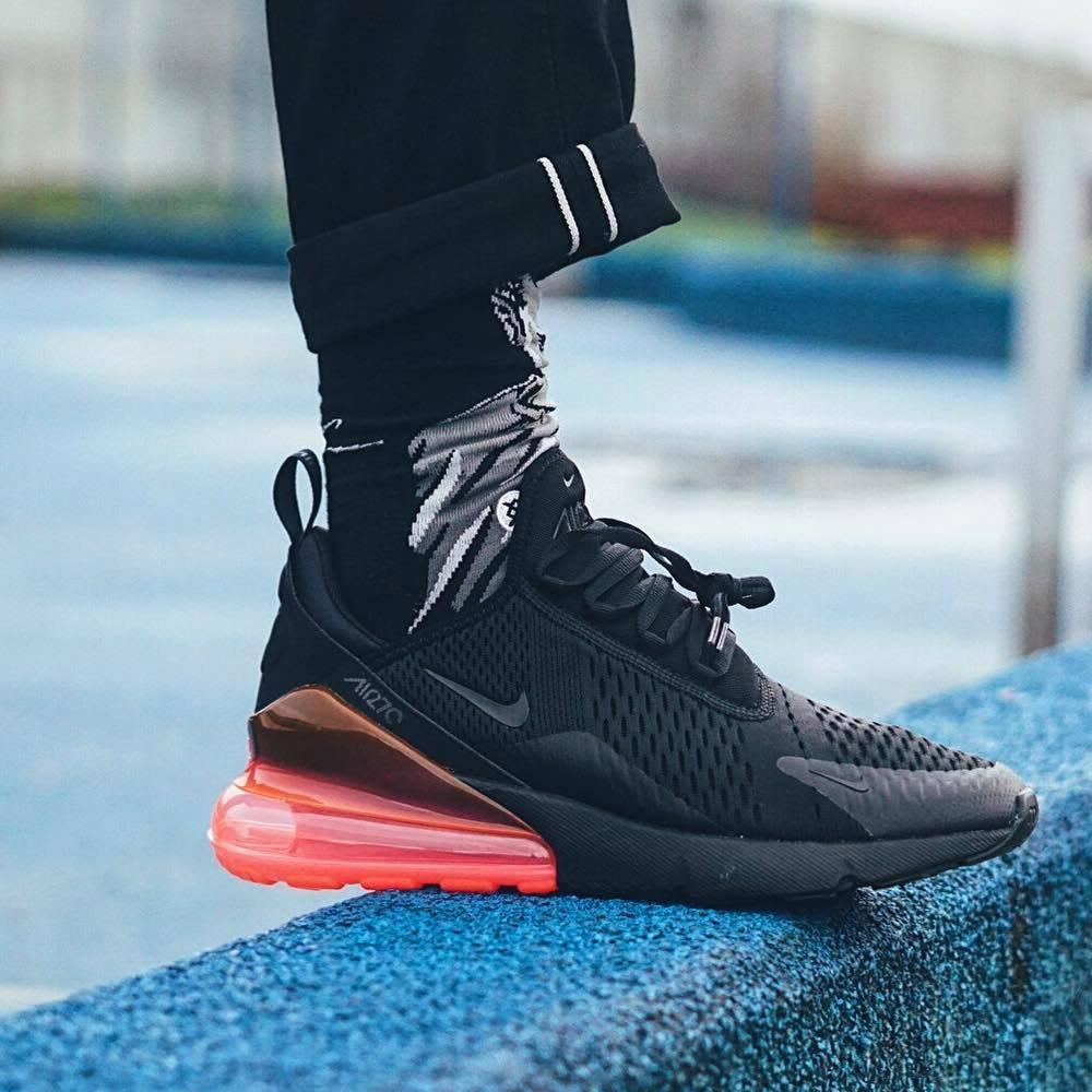 best sneakers a0a02 2c310 Nike Air Max 270 QS Black-Hot Punch