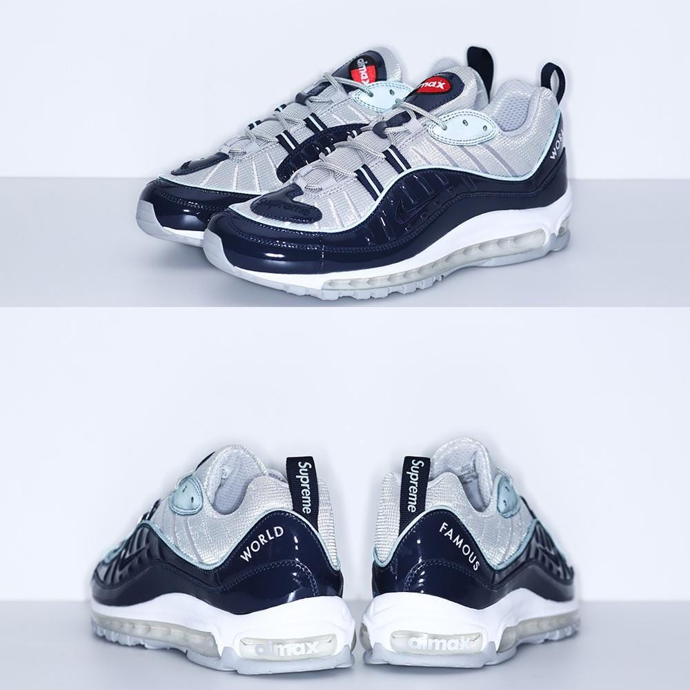Nike x Supreme Air Max 98 'Blue' - Kick Game