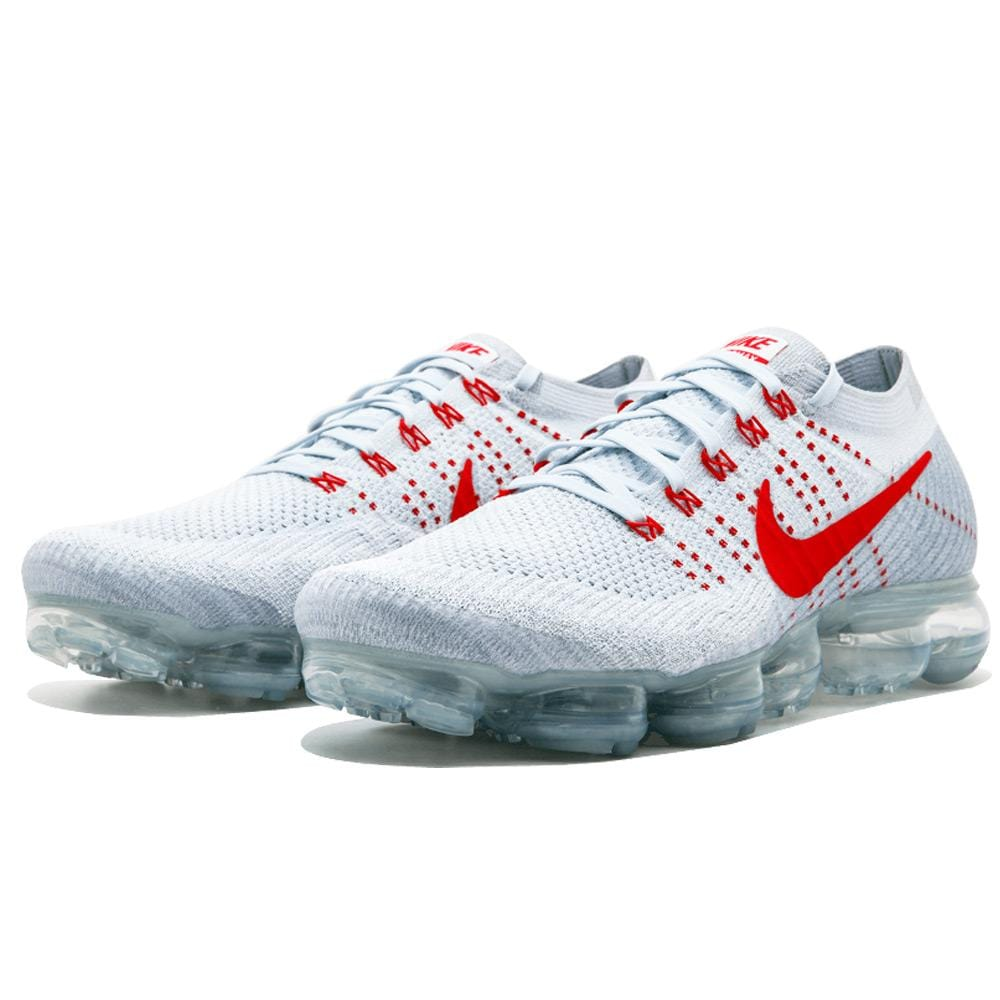 Nike Air Vapormax Flyknit Pure Platinum-University Red - Kick Game