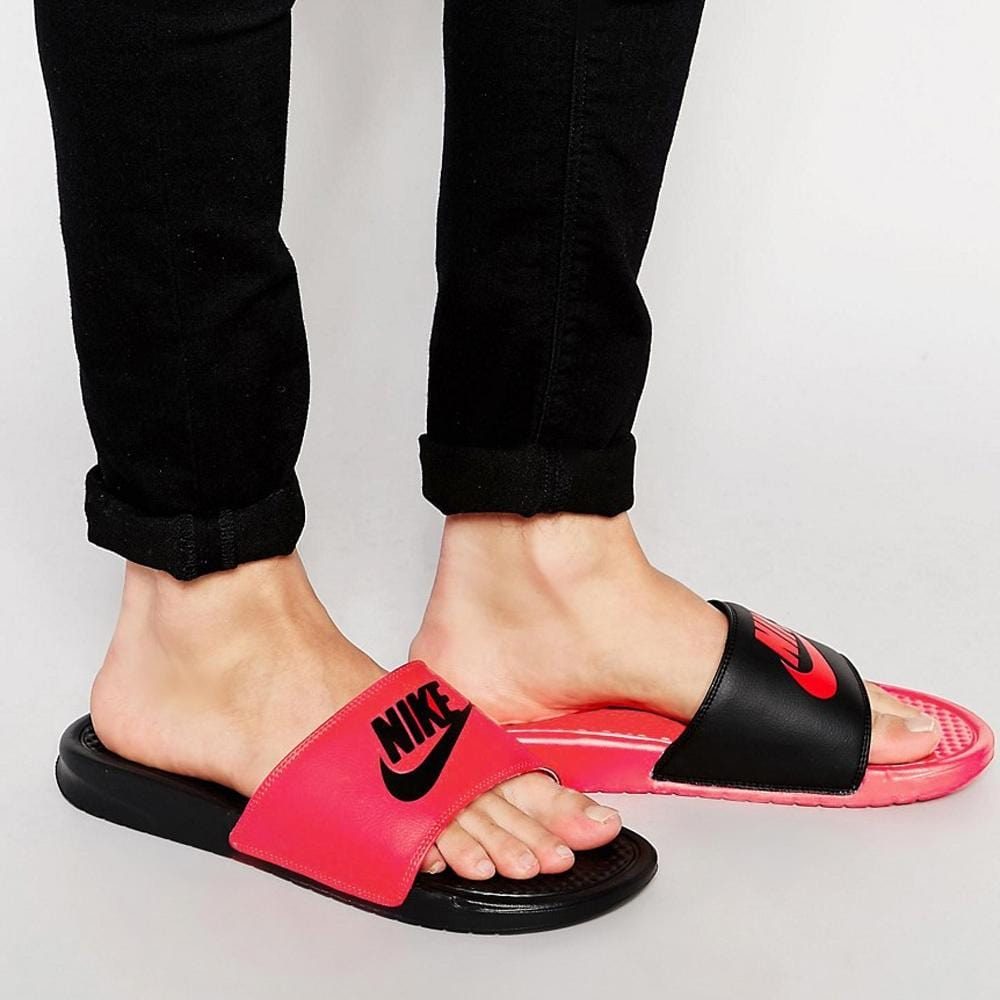 Nike Benassi JDI Mismatch University Red & Black - Kick Game