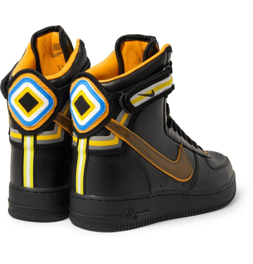 Nike Black Riccardo Tisci Air Force 1 Hi Leather Sneakers - Kick Game