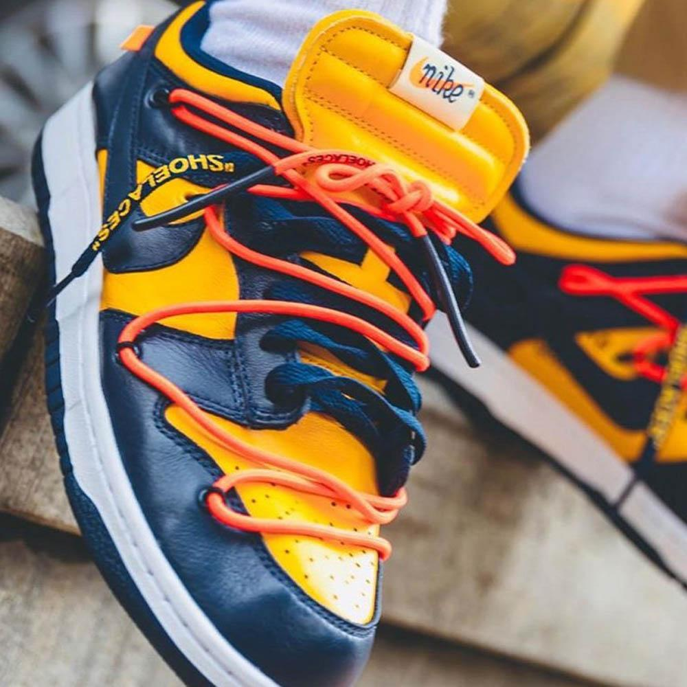 OFF-WHITE x Nike Dunk Low 'University Gold' - Kick Game