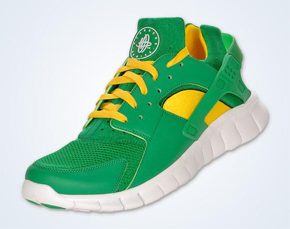 Nike Huarache Free 2012 'Court Green' - Kick Game