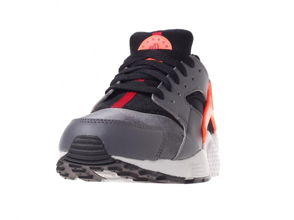 Nike Air Huarache Run GS 'Dark Grey-Hyper Crimson' - Kick Game