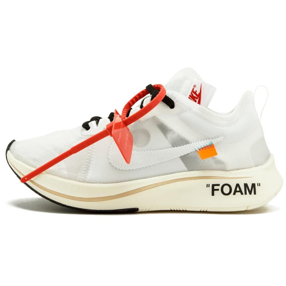 "OFF-WHITE x Nike Zoom Fly ""White-White-Muslin"" - Kick Game"