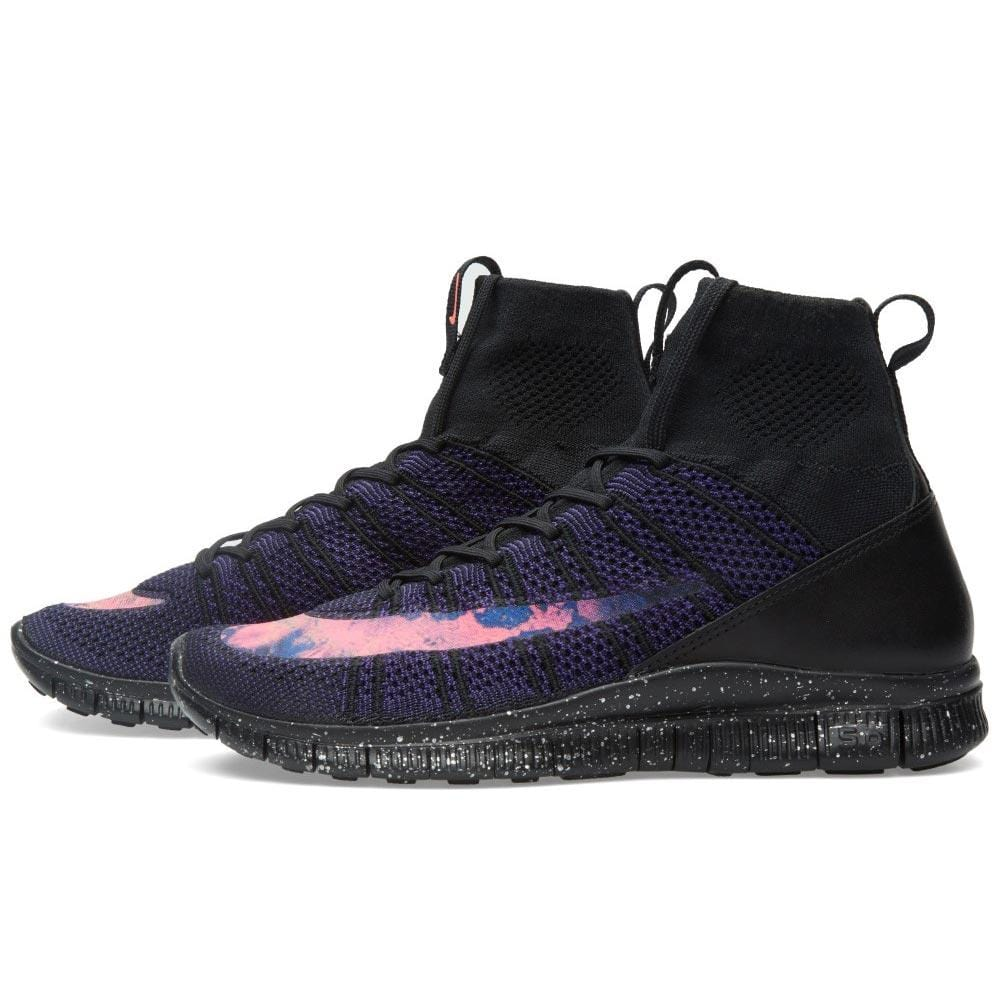 NIKE FREE FLYKNIT MERCURIAL Black & Bright Crimson - Kick Game