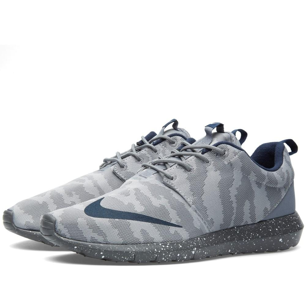 NIKE ROSHE NM FB Flat Silver & Obsidian - Kick Game