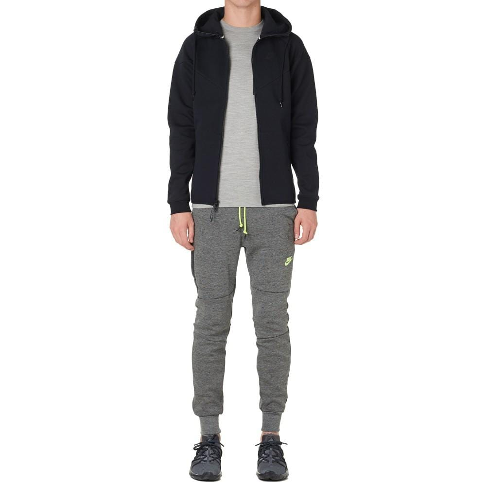 NIKE TECH FLEECE PANTS Tumbled Grey & Volt - Kick Game