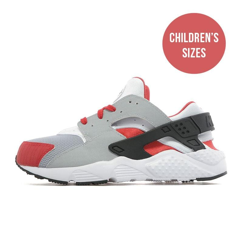 Nike Air Huarache Children 'Wolf Grey-Bright Crimson-Black' - Kick Game