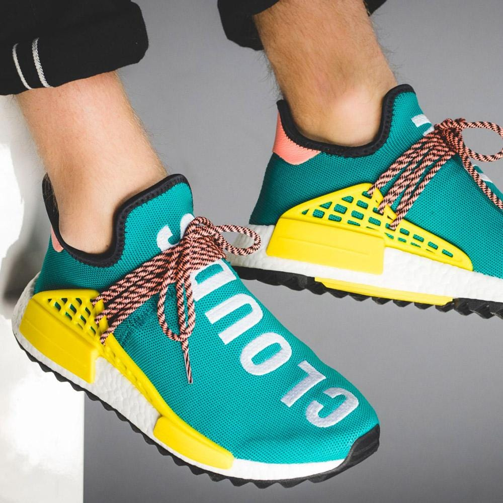 sale retailer b3dfc a5bd9 Pharrell Williams x adidas NMD HU Trail Sun Glow-EQT Yellow