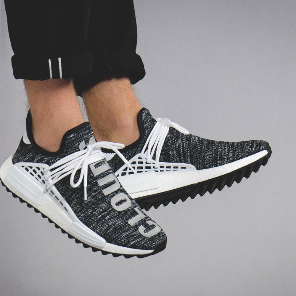acheter populaire f87bf 82666 Pharrell Williams x adidas NMD Human Race Trail Core Black-White