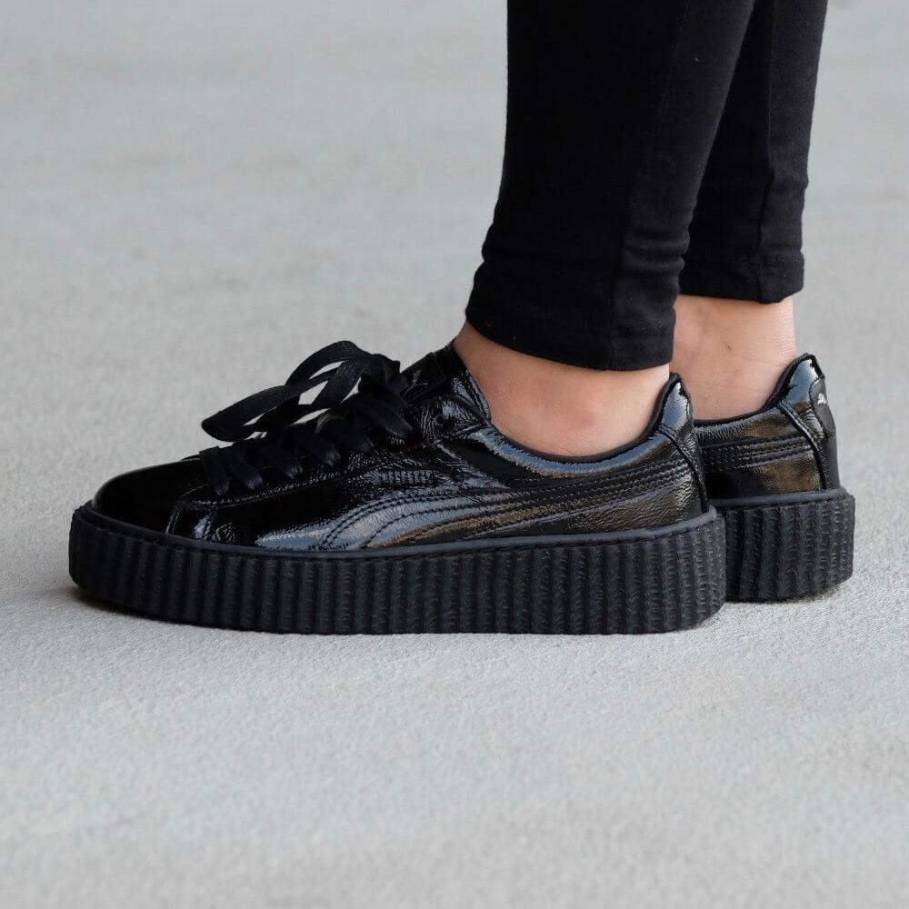 Fenty x Wmns Creeper 'Cracked Leather' Black - Kick Game