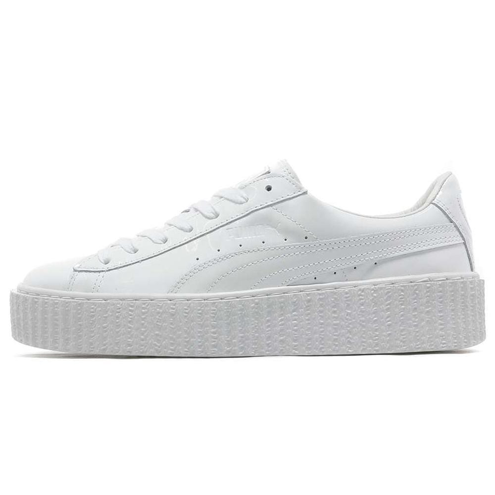 designer fashion d3bb2 9ede0 PUMA x Rihanna Basket Creepers Triple White