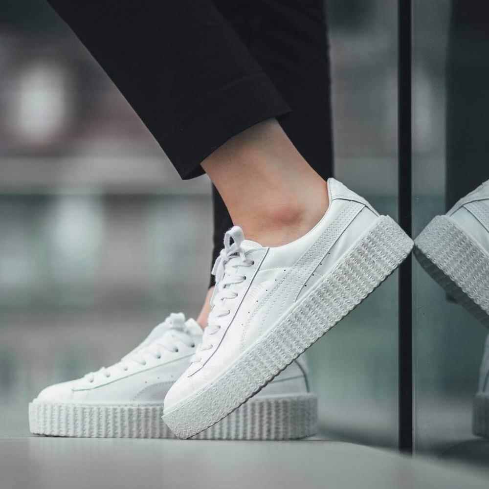 Fenty x Wmns Patent Leather Creepers 'Glossy White' - Kick Game