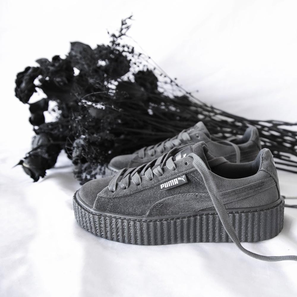 hot sale online f169e 99432 PUMA X FENTY CREEPER VELVET Glacier Grey