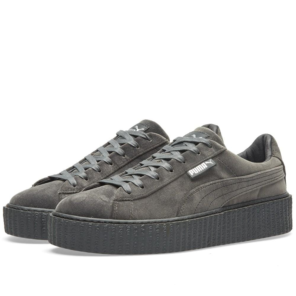hot sale online 4b10b 68568 PUMA X FENTY CREEPER VELVET Glacier Grey