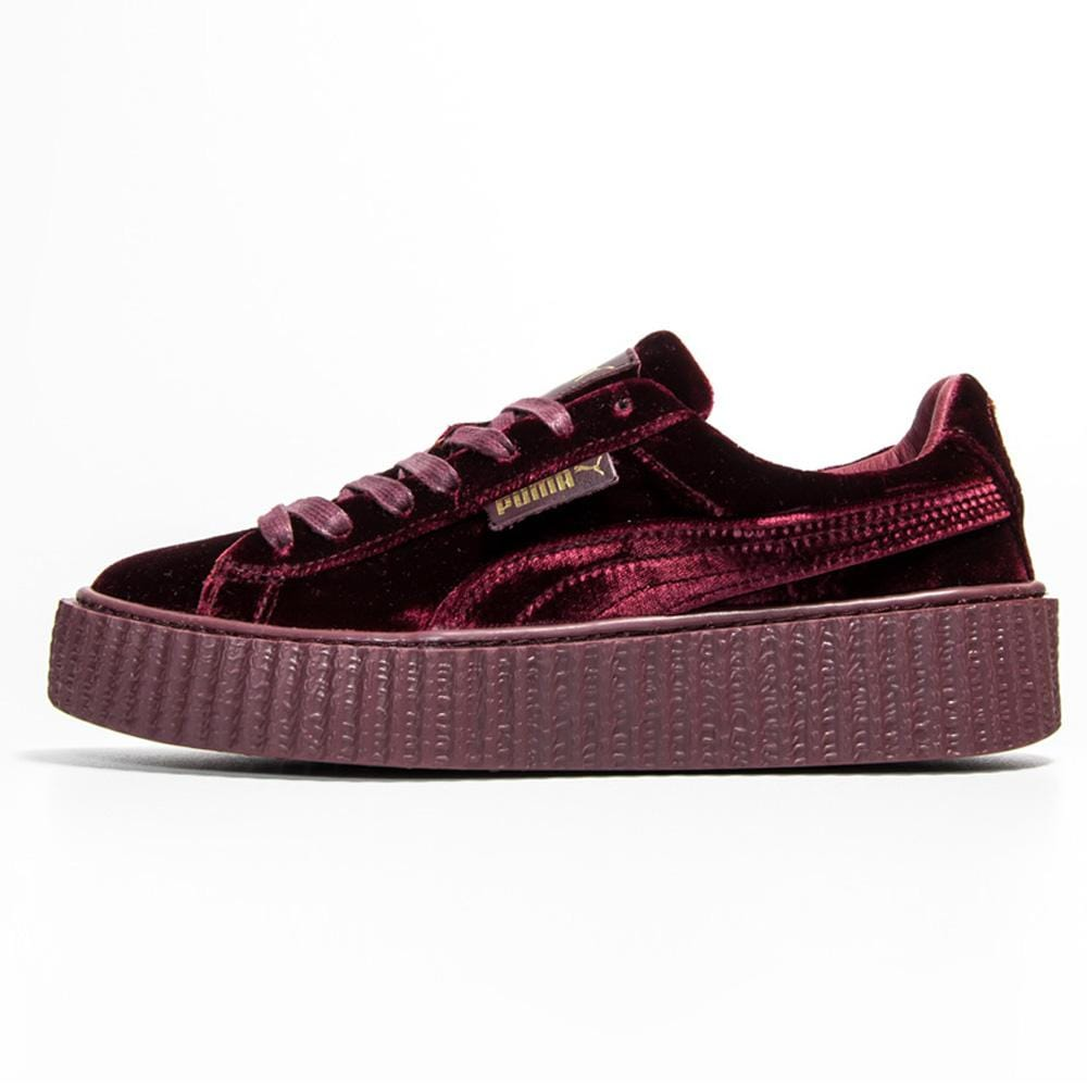 best loved aa4ff 72c8f PUMA X FENTY CREEPER VELVET Royal Purple