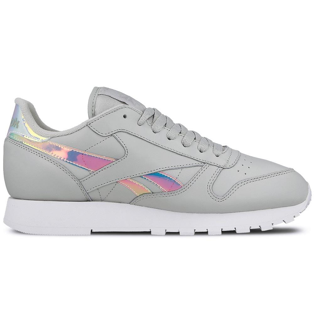 Reebok Classic Leather Iridescent Skull Grey-White - Kick Game