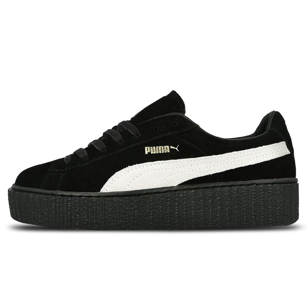 finest selection f5e4f 8ccf6 Rihanna x PUMA Suede Creeper Black-White