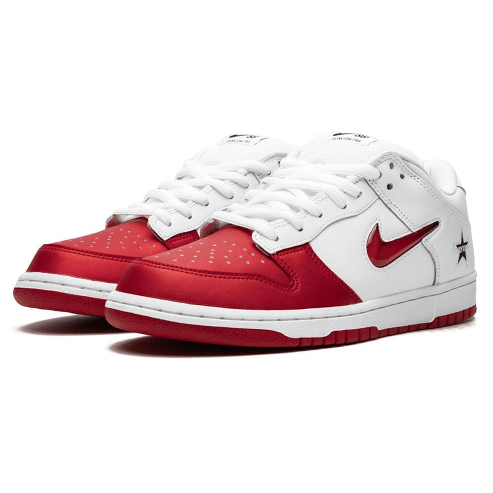 Supreme x Nike SB Dunk Low Red White - Kick Game