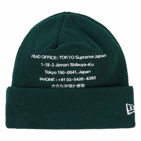 Supreme New Era HQ Beanie Dark Green - Kick Game